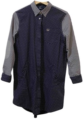 Fred Perry Blue Cotton Dress for Women