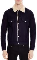 Sandro Faux Shearling Jacket