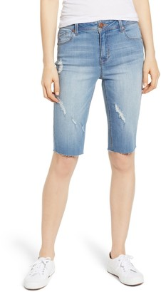 1822 Denim Distressed Denim Bermuda Shorts