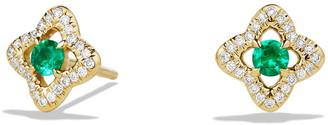 David Yurman Venetian Quatrefoil Earrings with Precious Stones and Diamonds in 18K Gold