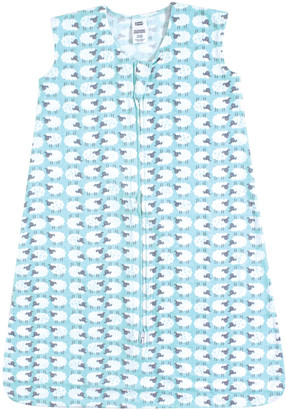 Luvable Friends Boys' Infant Sleeping Sacks Sheep - Blue Sheep Wearable Blanket - Newborn & Infant