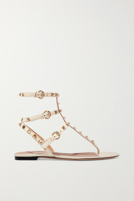 Valentino Garavani Rockstud Leather Sandals - White