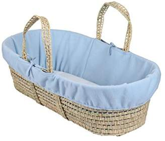 Clair De Lune Fleece Liner/Dressing for Palm and Wicker Moses Baskets (White)