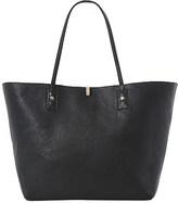 Dune Dallop reversible faux-leather shopper bag Black