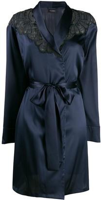 I.D. Sarrieri embroidered short robe