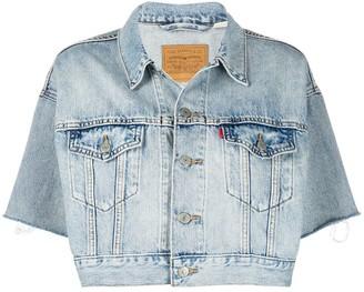 Levi's Cropped Short Sleeve Denim Jacket