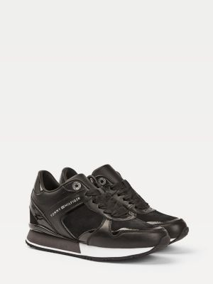 Tommy Hilfiger Mixed Texture Wedge Heel Trainers
