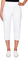 Ruby Rd. Women's Capris White - White Pull-On Capri Pants - Women, Petite & Plus