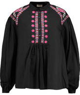 Temperley London Fable Embroidered Silk Blouse