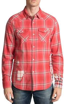 PRPS Plaid-Block Regular Fit Western Shirt