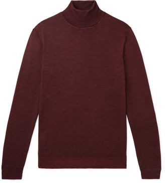 HUGO BOSS Slim-Fit Virgin Wool And Silk-Blend Rollneck Sweater