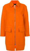 Cédric Charlier single breasted coat - women - Polyamide/Acetate/Viscose/Virgin Wool - 38