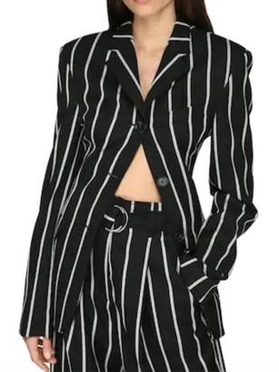 Proenza Schouler Cinched Waist Striped Blazer