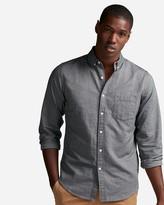 Express Slim Solid Soft Wash Oxford Shirt