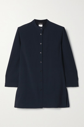 Akris Wool-crepe Blouse - Midnight blue