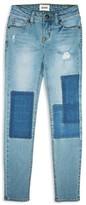 Hudson Girls' Patch Up Skinny Jeans - Sizes 7-16