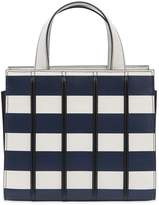 Max Mara Mini Striped Leather Top Handle Bag