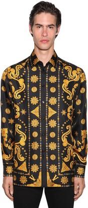 Versace ALLOVER BAROCCO PRINT WESTERN SHIRT