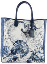 Roberto Cavalli Leather-Trimmed Canvas Tote