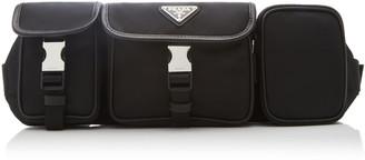 Prada Triple Pocket Nylon Crossbody Bag
