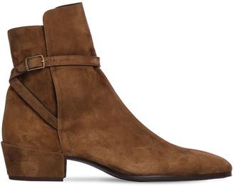 Saint Laurent 40mm Clementi Suede Ankle Boots