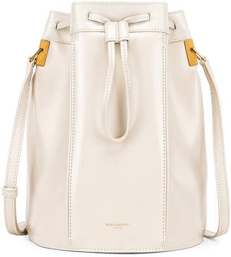 Saint Laurent Medium Talitha Bucket Bag in Blanc Vintage   FWRD