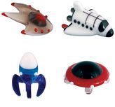 Looking Glass 4-pk. Spaceship, Space Shuttle, Rocket & Flying Saucer Mini Figurines