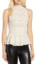 Fire Women's Lace Peplum Tank