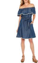 Melrose Off the Shoulder Fit & Flare Dress