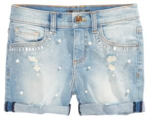 GUESS Big Girls Distressed Super Stretch Denim Shorts