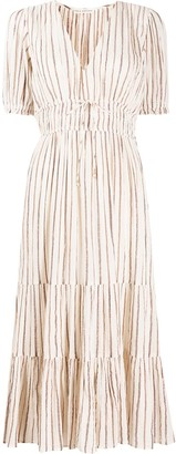 Ulla Johnson Striped Midi Dress