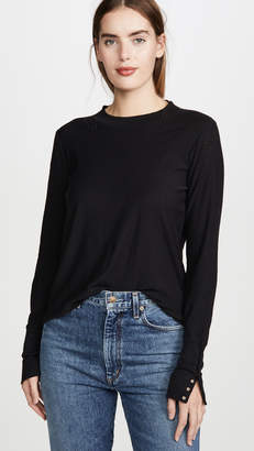 Nation Ltd. Joni Mock Neck Pullover with Snap Cuffs