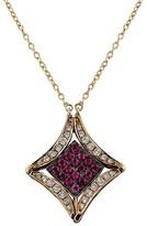 Effy Jewelry Diversa Rose Gold Ruby and Diamond 4-Way Pendant