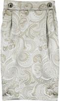 Auplus metallic jacquard skirt