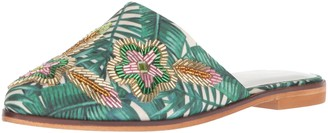 Kenneth Cole Reaction Women's Speed Slip On Flat Mule with Floral Embroidery