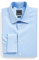 David Donahue Men's Trim Fit Texture Dress Shirt