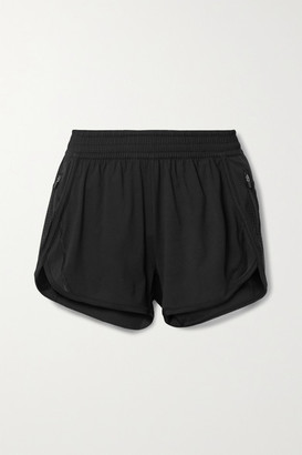 All Access Rave Run Mesh-paneled Stretch Shorts - Black