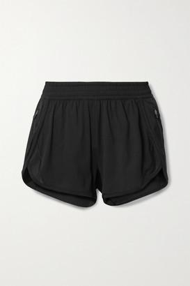 All Access Rave Run Mesh-paneled Stretch Shorts