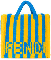 Fendi Shearling Striped Tote