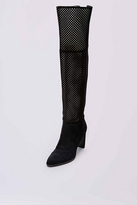 Diane von Furstenberg Jolet Perforated Suede Over The Knee Boot