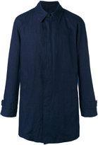 Giorgio Armani single breasted coat - men - Cotton/Linen/Flax - 50