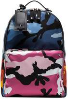 Valentino multicoloured camouflage print backpack