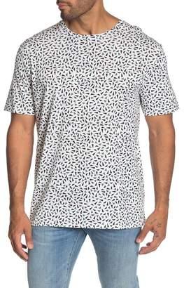 Theory Geo Printed Short Sleeve Crew Neck T-Shirt