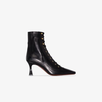 MANU Atelier Black Duck 80 Lace-Up Leather Boots