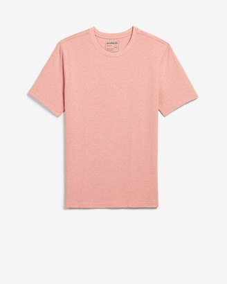 Express Slim Heathered Moisture-Wicking Crew Neck T-Shirt