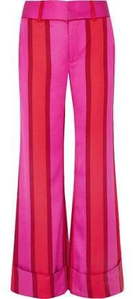 Maggie Marilyn Striped Twill Wide-leg Pants