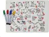 Mark-Mat Alphabet Animals + 4 markers