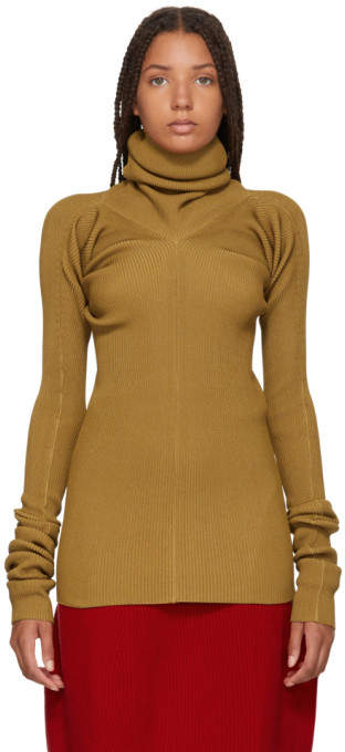 Marni Tan Ribbed Turtleneck