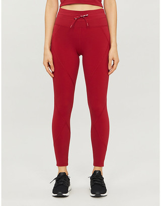 Lorna Jane Retro drawstring-waist stretch-jersey leggings