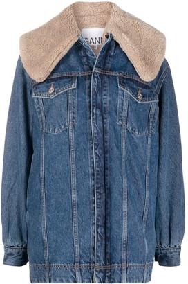 Ganni Oversized Layered Denim Jacket